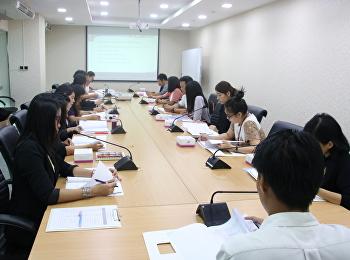 ประชุมชี้แจงการคำนวณต้นทุนต่อหน่วยผลผลิตให้หน่วยงานจัดการศึกษา