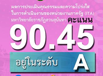 ผลITAปี62 สวนสุนันทาคว้า90.45 คะแนน อยู่ในระดับ A