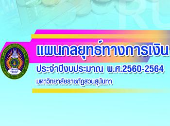 แผนกลยุทธทางการเงิน2560-2564มหาวิทยาลัยราชภัฏสวนสุนันทา
